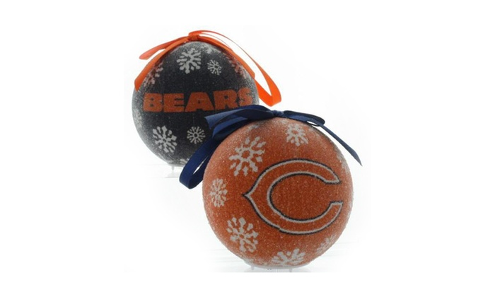 Nfl 6 Pack Led Christmas Ornaments Groupon