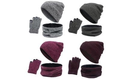 Set sciarpa, guanti e cappello