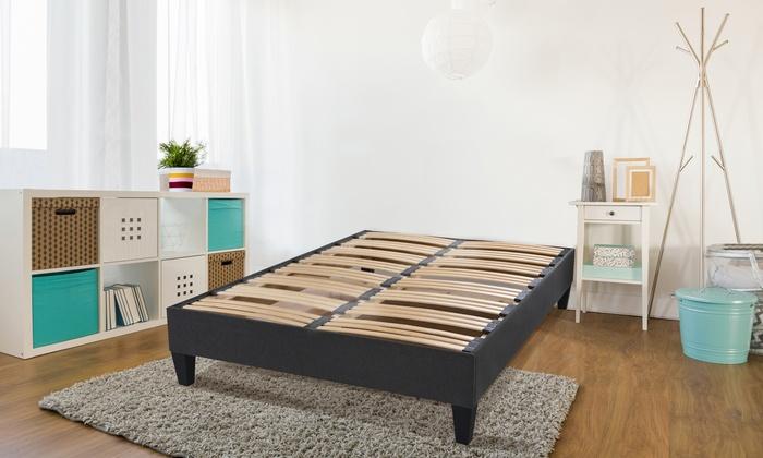 jusqu 39 82 sommier lattes avec sans matelas groupon. Black Bedroom Furniture Sets. Home Design Ideas