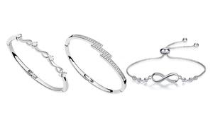 Bracelets ornés de cristaux