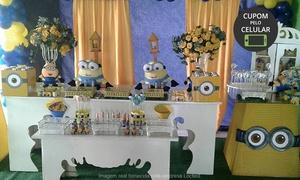 Locfest - Mesas Infantis, Mesas Decoradas: Buffet infantil em domicílio para 50 pessoas com a Locfest