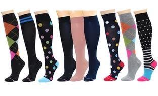Women's Compression Knee-High Socks (3-Pack)