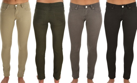Women's Stretch Colored Denim. Multiple Colors Available. Free Returns.