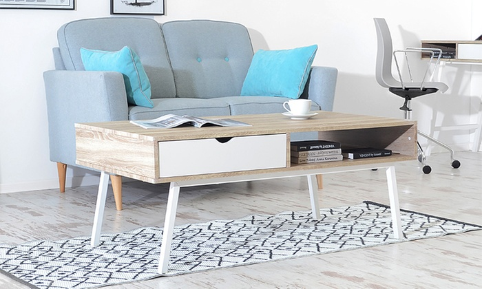 table basse au design scandinave groupon. Black Bedroom Furniture Sets. Home Design Ideas
