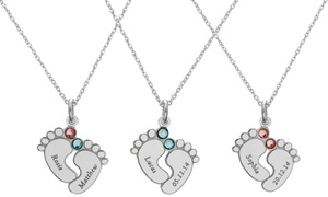Up to 91% Off Personalized Mini Baby Feet Necklaces at Jewellshouse, plus 6.0% Cash Back from Ebates.