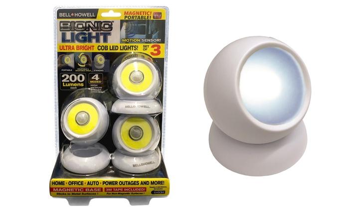 0a77eb7aa367 As Seen On TV Bionic Light Bright LED Motion Sensor Lights (3-Pack)