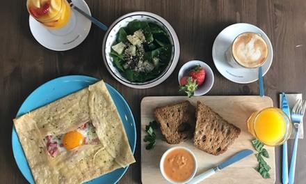 Menú de crepes para 2 o 4 personas con crepe salado, crepe dulce y bebida desde 19,95 € en L'Orangerie Bar And Creperie