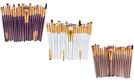 20-Piece Make-Up Brush Set in Choice of Colour