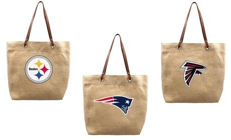NFL Burlap Tote Bag
