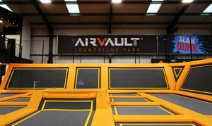 Air Vault: Trampoline Park Access with Sock Hire and a Hot Drink for Up to Four at Air Vault (Up to 50% Off)