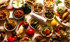Mezza Luna - Cardiff: Lebanese Dining Experience with Wine for Two or Four at Mezza Luna (Up to 51% Off)