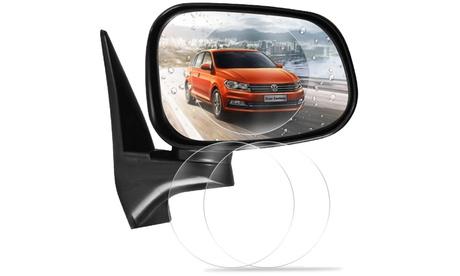 2x, 4x oder 6x regensichere, runde Auto-Spiegel-Schutzfolie ohne Ortsangabe