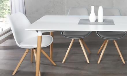 2, 4 ou 6 chaises de style scandinave, modèles Woody ou Brandy