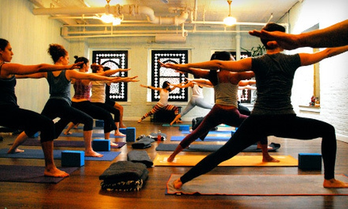 Yogamaya - Chelsea: Five Yoga Classes or One Month of Unlimited Classes at Yogamaya (Up to 54% Off)