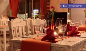 Alyki: 3-daniowa kolacja z napojami dla 2 osób (119,99 zł) lub 4 osób (239,99 zł) w restauracji ALYKI w SkyTower (-40%)