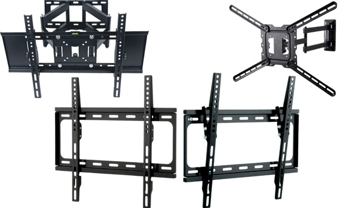 "CJ Tech Fixed, Tilt, or Full-Motion TV Wall Mounts for Most 23""–80"" TVs"