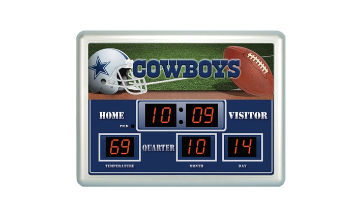 Nfl Scoreboard Wall Clock Groupon