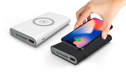 1 o 2 power bank da 20000 mAh con Qi wireless, con o senza cavo compatibile Lightning®, disponibili in 2 colori