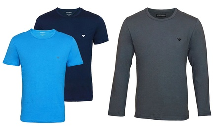 1 ou 2 t shirts Emporio Armani, manches courtes ou manches longues, coloris et tailles au choix, à 37,90 €