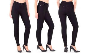 Indero Women's 5-Pocket Ponte (Regular and Plus Sizes)