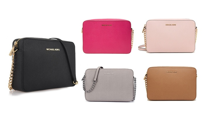 110a1031f8788e Up To 34% Off Michael Kors Jet Set Crossbody | Groupon
