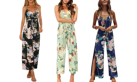 Women's Floral Print Jumpsuit: One ($19) or Two ($29)