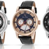 Lucien Piccard Men's Multifunctional Leather Watch