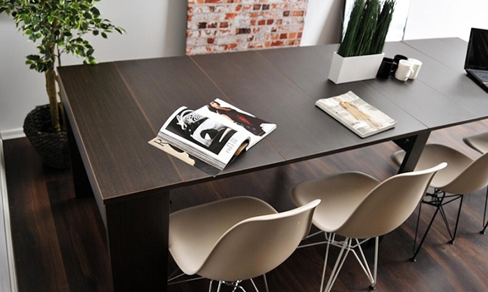 Table extensible 50cm 270cm groupon for Table extensible groupon