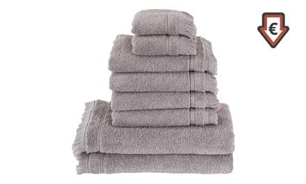 """8-teiliges Handtuch-Set """"Casa Di Bassi"""" aus türkischer Premium-Baumwolle in der Farbe nach Wahl"""