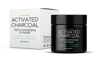 One or Two Activated Charcoal Teeth Whitening Powder Jars