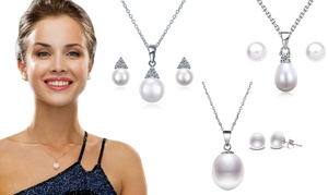 (Bijou)  Set de bijoux en argent sterling 925 -84% réduction