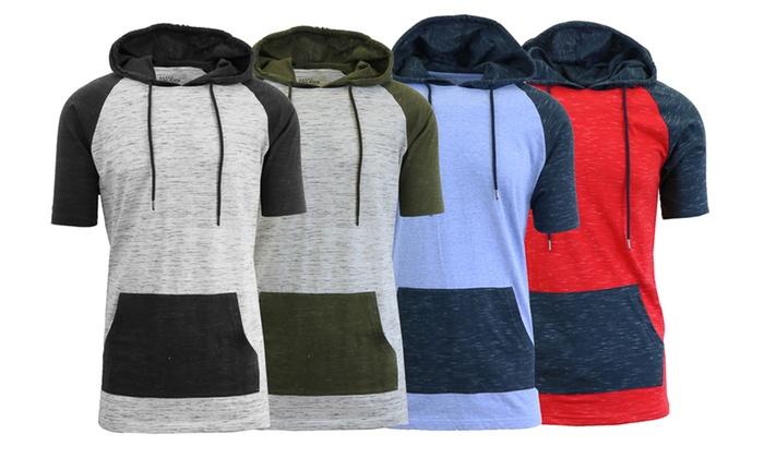 Men's Marled Short-Sleeve Hoodies (2-Pack)