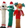 Loofa Christmas Assorted Dog Toys (3-Pack)