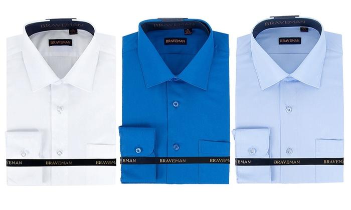Braveman Men's Slim-Fit Dress Shirts