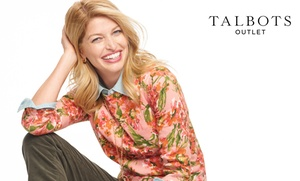 $10 Off at Talbots Outlets  at Talbots Outlet, plus 9.0% Cash Back from Ebates.