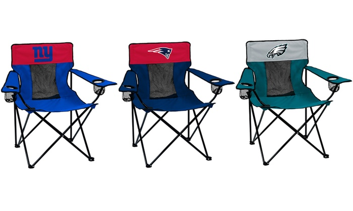 Enjoyable Up To 27 Off On Nfl Folding Chair With Case Groupon Goods Machost Co Dining Chair Design Ideas Machostcouk
