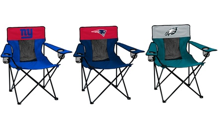 Logo Brands NFL Folding Chair with Cup Holders and Carrying Case