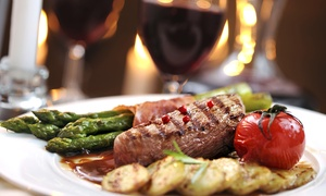 The Silver Larch: Sirloin Steak Meal with Glass of Wine for Two or Four at The Silver Larch