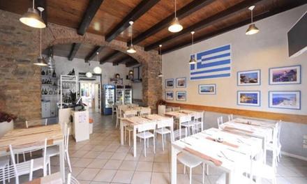 Menu greco da 3 portate con vino