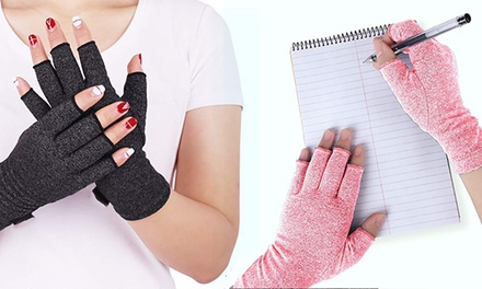 One or Two Pairs of Compression Arthritis Gloves