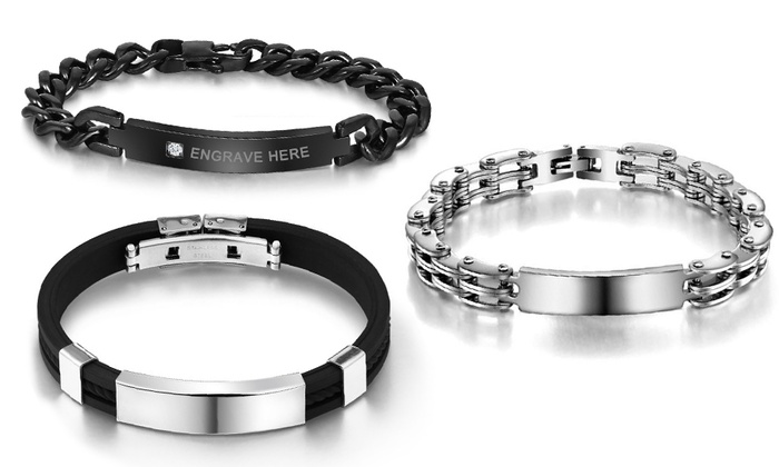 Up To 83 Off Men S Custom Engraved Id Bracelet From Luce