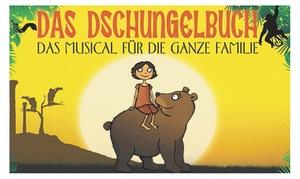 """Theater Lichtermeer pres. Das Dschungelbuch: 2 Tickets für """"Das Dschungelbuch"""" in den Elbarkaden Hamburg von Oktober bis Dezember 2016 (32% sparen)"""