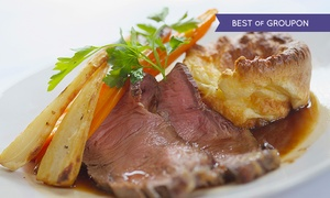 The Bull i' th' Thorn - Non-Accommodation: Two-Course Sunday Roast Dinner For Two (£13) or Four (£26) at The Bull i' th' Thorn (52% Off)