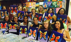 Bright Zebra Art Studio: BYOB Adult Painting Party for One or Two at Bright Zebra Art Studio (Up to 50% Off)