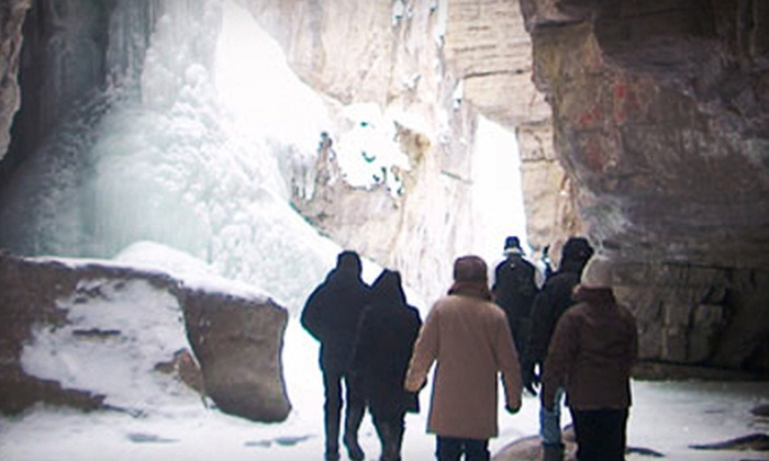 Jasper Brewing Company - Jasper: Canyon Ice Walk or Wildlife Tour with Burger or Sandwich Meal for Two from Jasper Brewing Company (Up to 53% Off)
