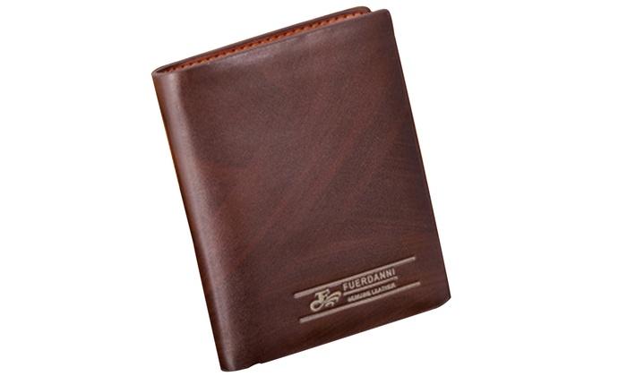 9bb5b8c752f0 Fuerdanni Men's Classic Genuine-Leather Wallet   Groupon