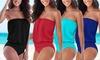 Groupon Goods Global GmbH: 1 ou 2 maillots 1 pièce bustier gainant, taille et coloris au choix