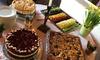 Kuchen oder Torte mit Heißgetränk