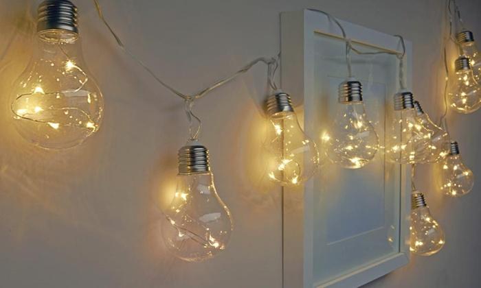 indoor battery bulb string lights groupon goods. Black Bedroom Furniture Sets. Home Design Ideas
