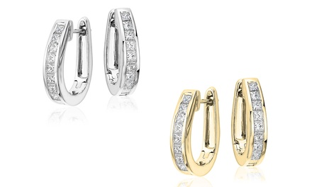 819eefbfa Shopping Deals USA | Oval Hoop Earrings Set Made with Swarovski ...